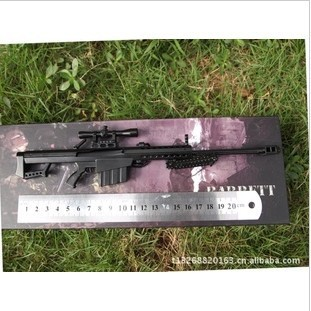 Free shipping Retail exquisite good hand working 1/6 metal high simulation Barrett M82A1 Sniper rifle ,model rifle(China (Mainland))