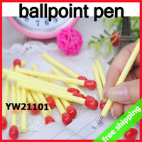 FREE SHIPPING Ballpoint Pen Writing Matchstick Novel Promotion Plastic Cute Stationery Kids Gift Prize 160pcs/lot say hi 21101