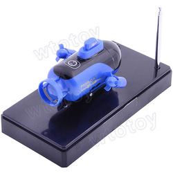 New Remote Radio Control Mini RC Submarine Sub Boat RTR Blue 12258(China (Mainland))