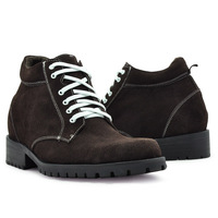 9808B_5 (Brown) men's handcrafed  brand  elevator gothic boots  keep  you warm in winter and gain you 3.15 inches