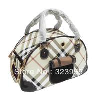 Checkered Pet bag Dog Handbag Puppy Doggie Dog Cat Carrier Travel Handbag EMS Free Shipping