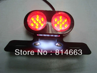 Free Shipping Motorcycle LED Motor Tail Light Running / Brake Light Rear Light For Suzuki Honda Yamaha (LL001) Retail/Wholesale