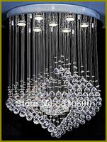 EXPORT QUALITY FREE LED BULB 110-240V SUN DESIGN K9 CRYSTAL/CHANDELIER LIGHT/LIGHTING/LAMP/OVAL/PRISMS/ART/HANGING/GALLERY/SALE