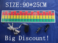 90*25cm Equalizer el car sticker Hot Selling flashing stickers  wtih DC12V inverter