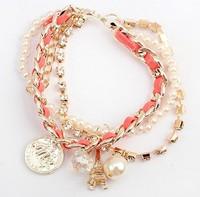 2013 Newest bracelets&bangles/New arrival bangles jewelry,Handmade fashion Rope Bracelet/Have 2 color