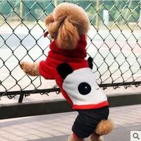 022155  dog clothing pet clothes panda outerwear  overclothes XS  S  M  L  XL  jacket cotton winter spring autumn