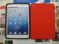 New arrive Silicone flat Soft Skin Case Cover For iPad mini 200pcs/lot wholesale Free Shipping