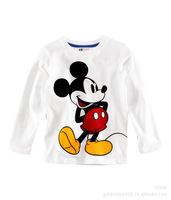 2013boys girls t shirt ,childrens long sleeve tee shirts Mickey Minnie White shirt fit 2-6 yrs 5pcs/lot free shipping