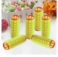 6pcs Sponge Velcro Cling Hair Styling Roller Curler Making Tool Fashion Roll[20060148 ]