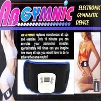 AB Gymnic Electronic Muscle Arm leg Waist Health Body massage Body building Belt ABGymnic Health care beauty Slimming Belt Free