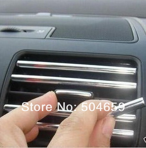 Car Air Conditioner Outlet Chrome Styling strip Universal Use(China (Mainland))