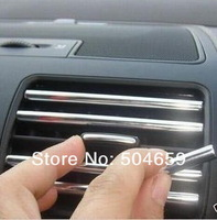 Car Air Conditioner Outlet  Chrome Styling strip Universal Use