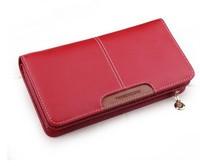 NEWEST DESIGN Women  Genuine Leather Wallet High Capacity Cowhide Zipper Purse  zipper clutch bags Free Shipping