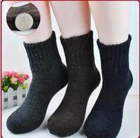 Free Shipping Hot Sale Men's Rabbit wool socks soild color Knitted Socks winter warm thick socks