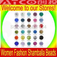 200pcs/lot Shamballa Bead jewelry Wholesale, New Shamballa beads Micro Pave CZ Disco Ball Bead 10mm (support mix order)
