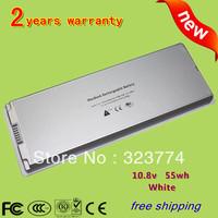"White Battery for Apple MacBook 13"" A1185 A1181 MA561 MA561FE/A MA561G/A MA254 MA255CH/A MA699B/A MB061X/A 55wh + Free Shipping"