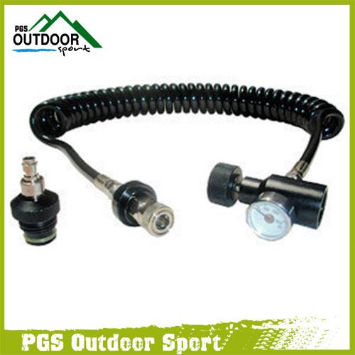Paintball Air Gun Airsoft Coil Remote Hose Line w/Quick Disconnect