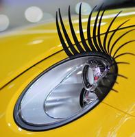 Retial 4pcs=2pairs/lot Fashion Universal Black 3D Car Eyelashes Sticker car styling