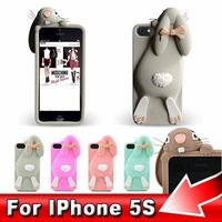 3pcs/lot Newest Stich Silicone Cover For iPhone 5 5G Cases, Fashion 3D Stitch Hard Back Housing Case for iPhone5, Free Shipping