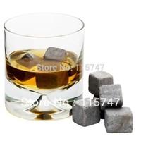 2012 NEW! GRAY Whisky stones 8pcs/set +velvet bag 100% natural, whiskey rock FREE SHIPPING!