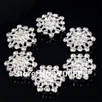 high quality fashion flower shape shank rhinestone metal alloy wedding garment vintage button wholesale