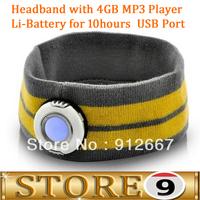 Headband with MP3 Player - 2GB, Modern Design, LED Light, Headband for Outdoor