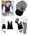 New Classic Fashion boys Gentleman Spring autumn clothing Sweater track suit with hats 5sets/lot