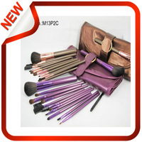 13 high-end professional makeup brush sets + brown purple brush pack + free shipping