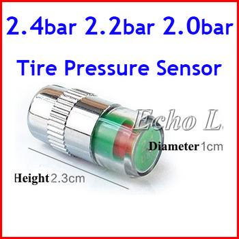 Best Quality Gift 2.4 bar 2.2 bar 2.0 bar Tire Pressure Sensor Monitor Pressure Gauge Indicator Valve Stem Cap Sensor Eye Alert
