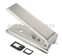 Best sale Stainless Steel Nano Sim Card Cutter for iPhone 5 5G, Sim Cutter For iphone 5G + Free Adapter Convertor 10pcs/lot