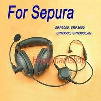 Ham radio headset with heavy duty PTT for Sepura CB radio SRP2000 SRP3000 SRH3500 SRH3800