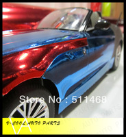 High Quality Chrome Blue Vinyl / Car Sticker / Available Size: 1.52 x 30m