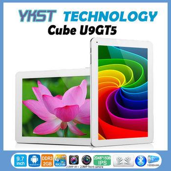 "Cube U9GT5 9.7"" 2048*1536 IPS Retina screen Android 4.1 Dual camera Cortex A9 RK3188 Quad Core tablet pc 2GB RAM 2013 New!"