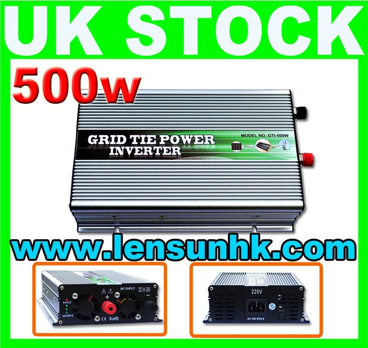 WHOLESALE UK STOCK,500W Grid Tie Solar Inverter 14-28V DC,230V AC,FAST SHIP,NO CUSTOM TAX(China (Mainland))