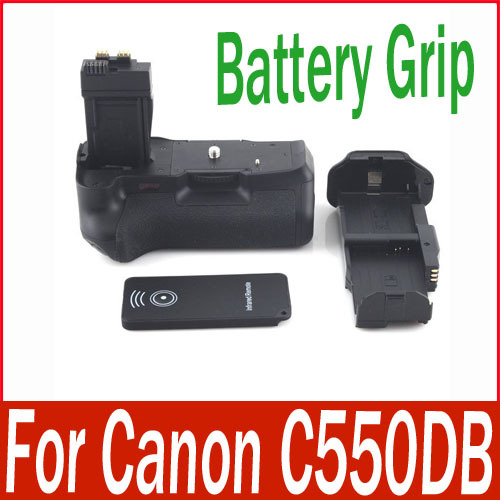 New Vertical LP-E8 Battery Grip for Canon EOS 550D DSLR Camera Shutter IR Remote(China (Mainland))