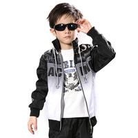 Medium-large male child sports set children's clothing male child autumn 2012 child sportswear teenage piece set twinset hoodies