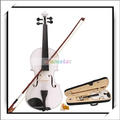 "Free Shipping New 4/4 White Acoustic Violin + Case+ Bow + Rosin 23.23"" x 8.07"" x 1.38"" Violin Good and High Quality Y00272"