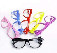 Free shipping!Wholesale Fashion Kid's kitty Plain Glasses Cartoon Girl's Lovely Spectacles Clear lenses