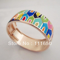 Free Shipping! Rose Gold Plated Enamel Jewelry Bnagle, 1 pcs/pack