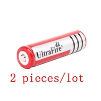 Big Discount+Free Shipping,2PCS/LOT ultrafire Brand 18650 3.7V Rechargeable Battery 4200mAh for LED Flashlight