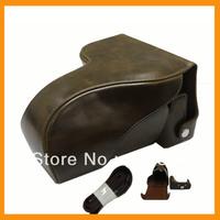 DSLR Manfacturer Professional Leather Digital Camera Case/Bag/Cover for canon 600D(long lens)Compact Camera Pouch