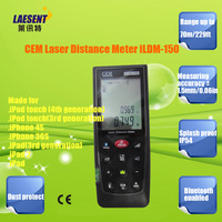 CEM Digital Laser Distance Meter iLDM-150 for 70m range finder with Bluetooth enabled make for iPhone Free Shipping