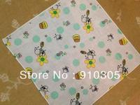 Soft comfortable cotton yarn women's child 100% cotton handkerchief mixed pattern free shipping