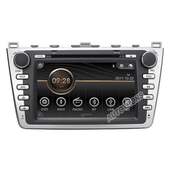 Car DVD for Mazda 6 (2008-2011) Car DVD player Navigation GPS Radio Stereo headunit built in FM bluetooth TV IPOD USB Free Map(China (Mainland))