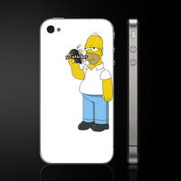 Free Shipping  Simpson Decals Vinyl Decal Skin  Backside Unique Sticker for iPhone Stickers