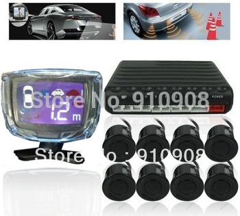 8 Sensors Weatherproof Rear and Front View Car Parking Sensors