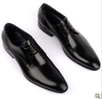 015 Hot sale! Lace-Up Genuine Leather twinkle Men's wedding dress shoes Solid Red/Black Size 37.5-43