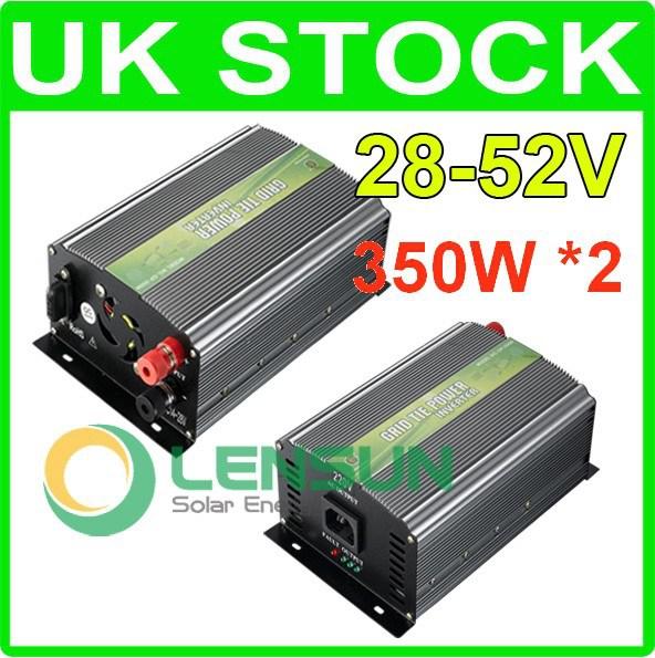 2pc 350W Grid Tie Inverter 28-52V DC,WHOLESALE,UK STOCK,FAST SHIP,NO CUSTOM TAX(China (Mainland))