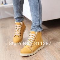 Free drop shipping 2013 Snow Boot for Women Martin shoes Winter flats artificial fur ladies big size shoes eur34-43 SXX04369