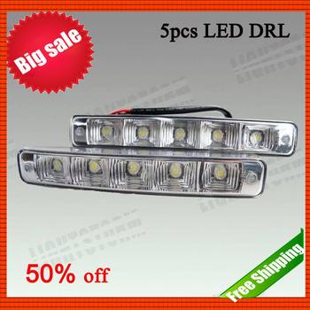 Promotion! High Intensity 800cd,daytime running light, 5pcs led lamp, DRL, LED DRL Light Lamp, free shipping